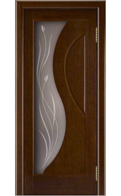 Двери ЛайнДор - Прага Тон 2 Орех стекло