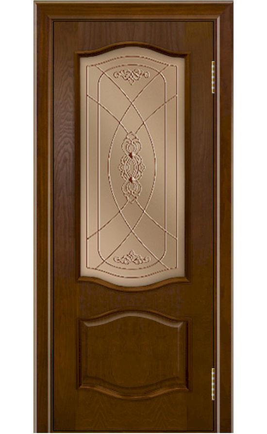 Двери ЛайнДор - София Тон 30 Шоколад стекло
