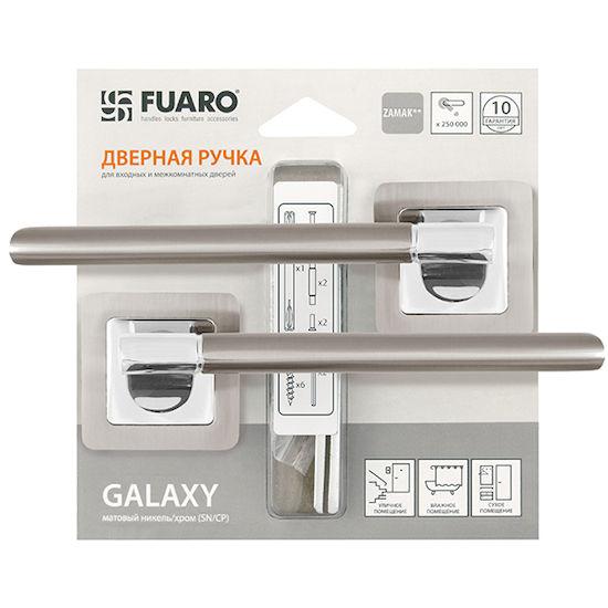 Дверная ручка Fuaro GALAXY XM-HD SN-CP-3 матовый никель/хром в Симферополе.