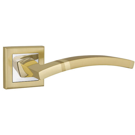 Ручка дверная Punto NAVY QL SG-CP-4 матовое золото/хром в Симферополе