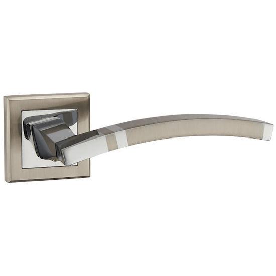 Ручка дверная Punto NAVY QL SN-CP-3 матовый никель/хром в Симферополе