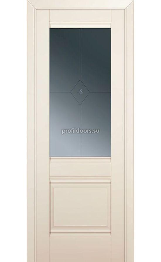 Двери Профильдорс, модель 2U магнолия сатинат стекло  (U классика) в Крыму