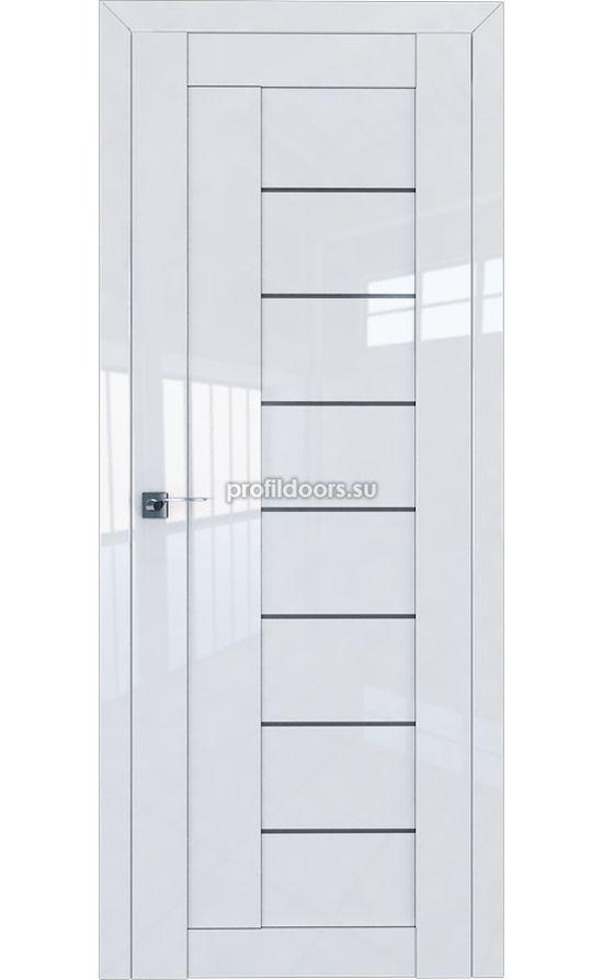 Двери Профильдорс, модель 17L белый глянец графит (Серия L) в Крыму