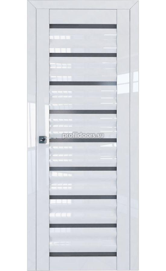 Двери Профильдорс, модель 76L белый глянец графит (Серия L) в Крыму