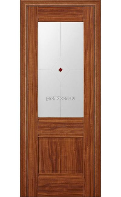 Двери Профильдорс, модель 2Х Орех амари, узор 1 (х классика) в Крыму