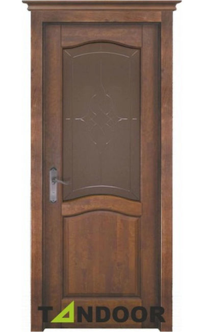 Купить двери Лео античный орех стекло в Симферополе