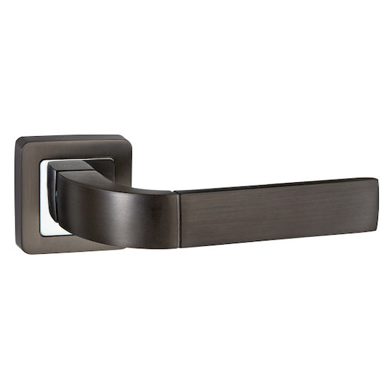 Ручка дверная Punto ORION QR-HD GR-CP-23 графит/хром в Симферополе