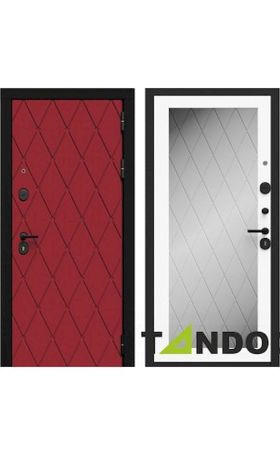 Двери Барокко Бордо Софт милк с зеркалом в Симферополе