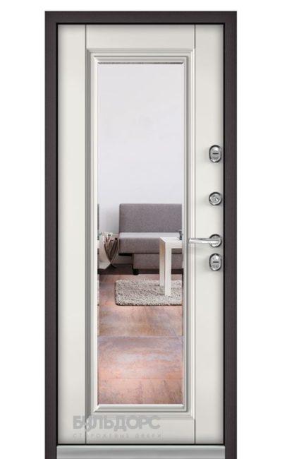Входная дверь Бульдорс Termo NEW Белый Софт 9S-140 Зеркало