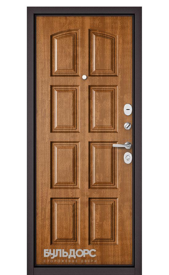 Входная дверь Бульдорс Standart 90 Букле Шоколад/Дуб Медовый 9S-103