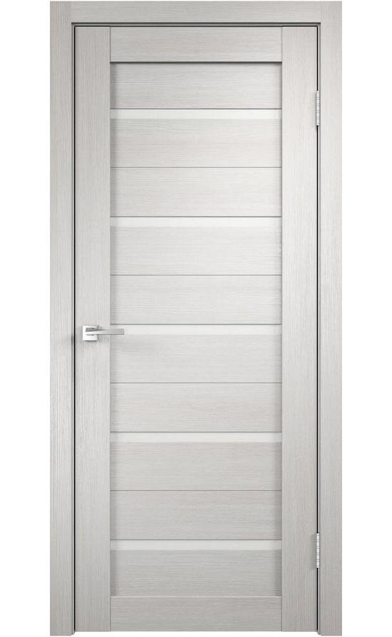 Дверь VellDoris, модель DUPLEX (дуб беленый, белое стекло)