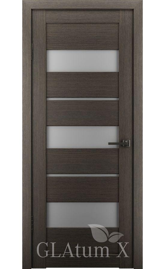 Двери Грин Лайн, модель GLAtum-X23 (серый дуб) в Симферополе