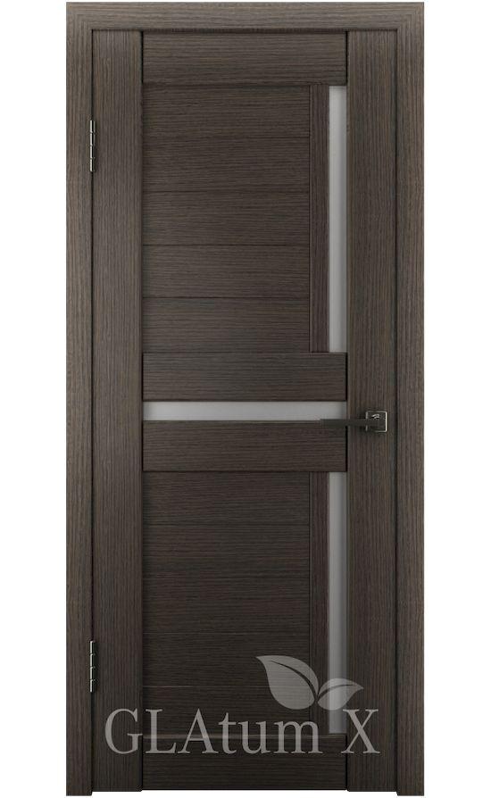 Двери Грин Лайн, модель GLAtum-X16 (серый дуб) в Симферополе