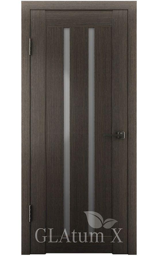 Двери Грин Лайн, модель GLAtum-X2 (серый дуб) в Симферополе