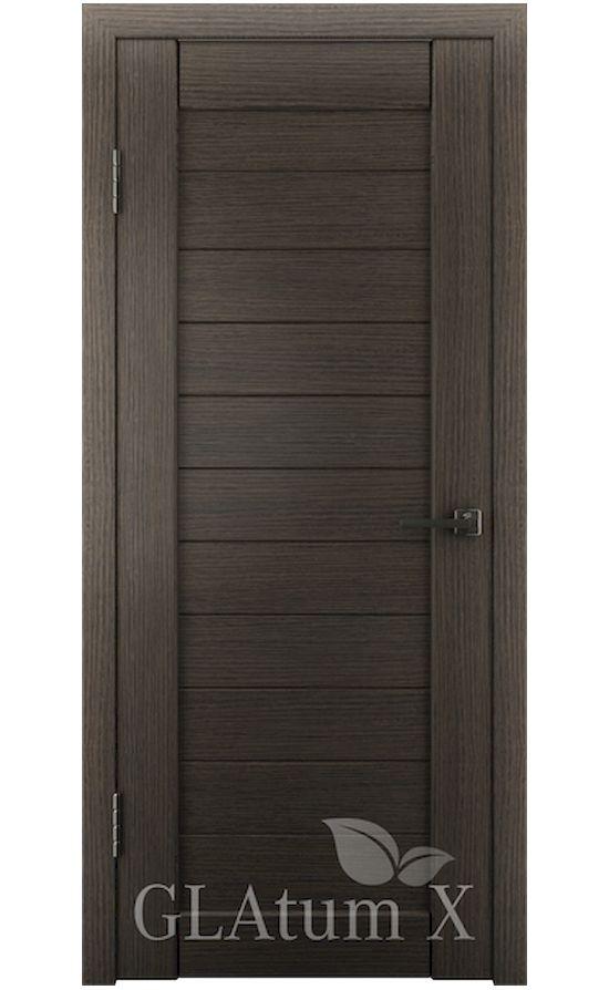 Двери Грин Лайн, модель GLAtum-X6 (серый дуб) в Симферополе