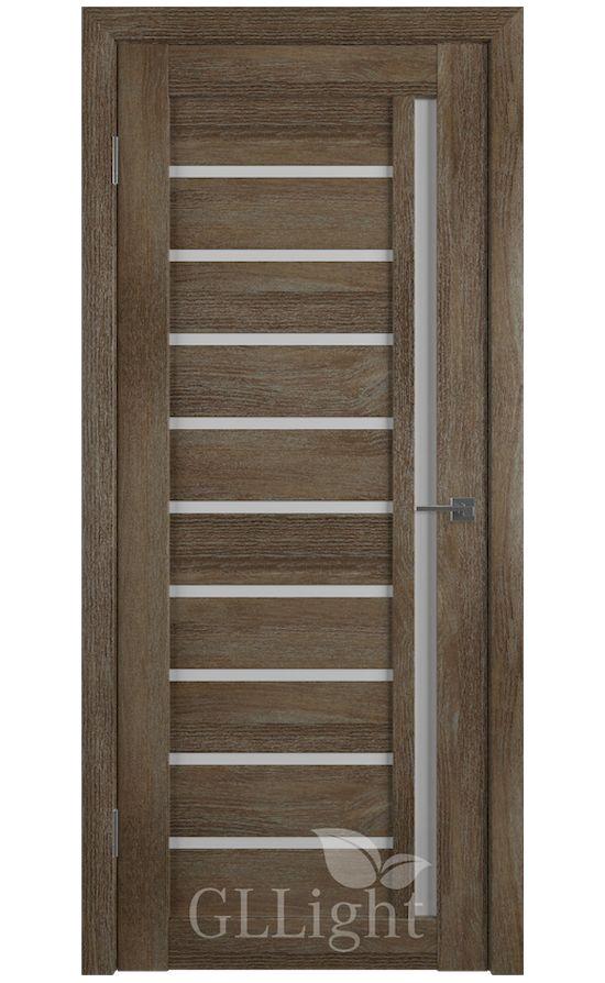Двери Грин Лайн, модель GLLight 11 (дуб трюфель, белый сатинат) в Симферополе