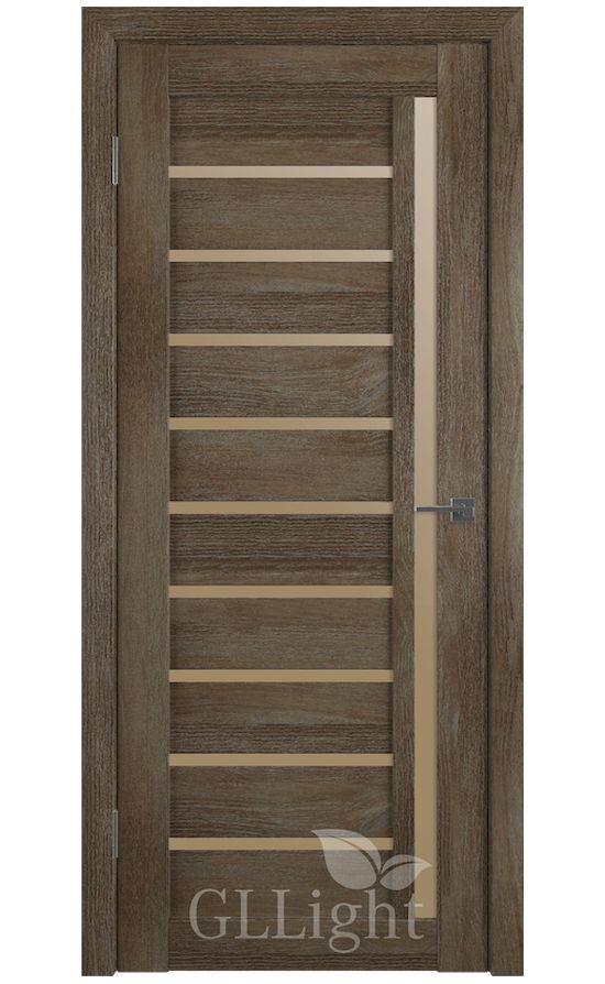 Двери Грин Лайн, модель GLLight 11 (дуб трюфель, бронзовый сатинат) в Симферополе