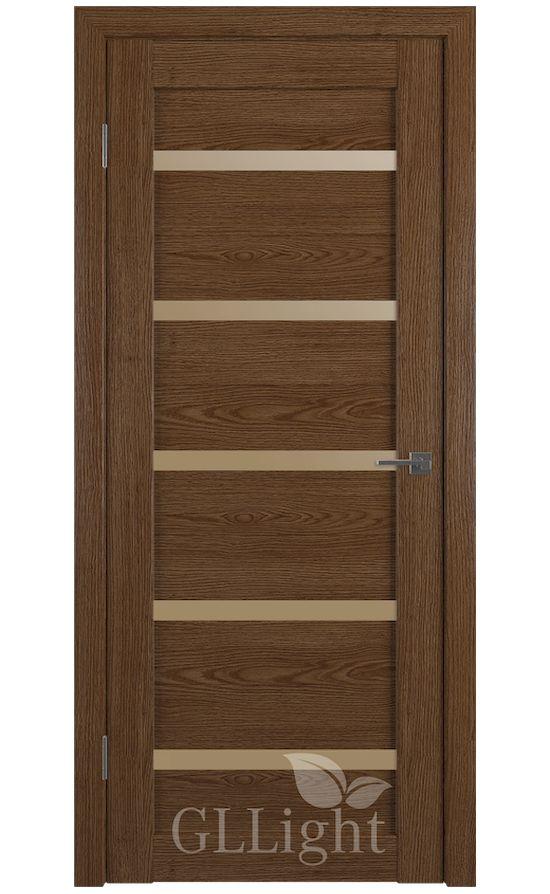 Двери Грин Лайн, модель GLLight 7 (дуб корица, бронзовый сатинат) в Симферополе