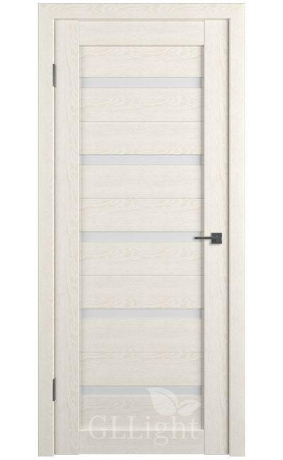 Двери Грин Лайн, модель GLLight 7 (дуб латте, белый сатинат) в Симферополе