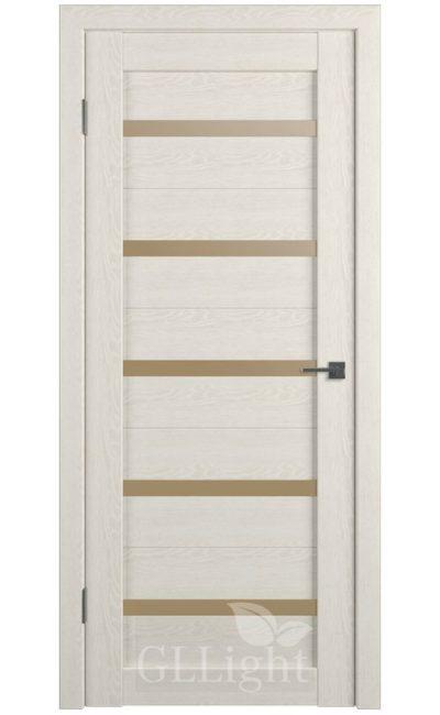 Двери Грин Лайн, модель GLLight 7 (дуб латте, бронзовый сатинат) в Симферополе