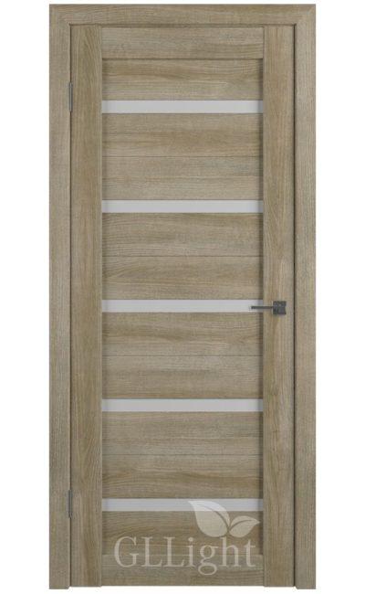 Двери Грин Лайн, модель GLLight 7 (дуб мокко, белый сатинат) в Симферополе