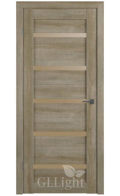 Двери Грин Лайн, модель GLLight 7 (дуб мокко, бронзовый сатинат) в Симферополе