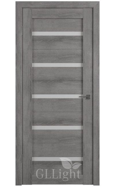 Двери Грин Лайн, модель GLLight 7 (дуб муссон, белый сатинат) в Симферополе