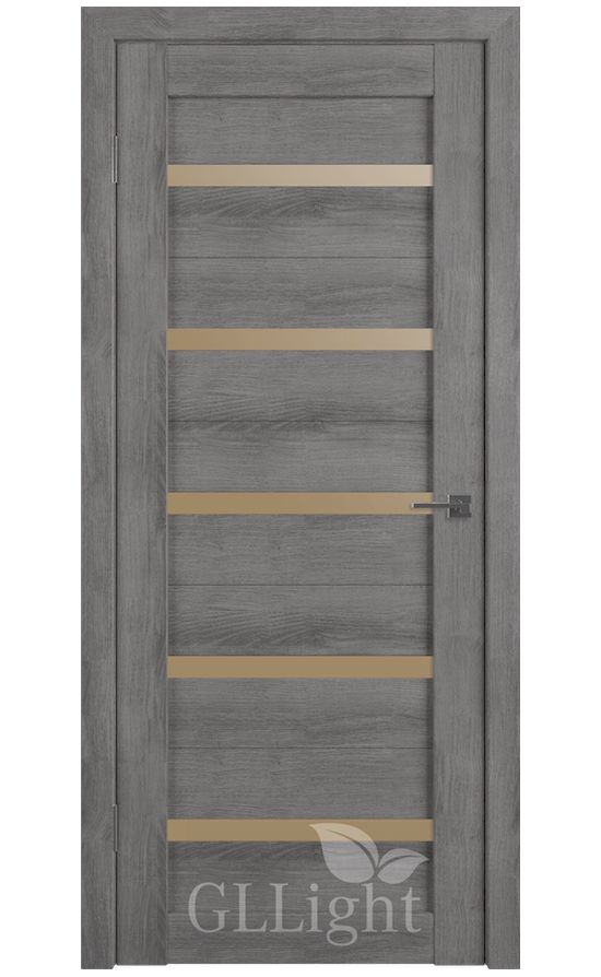 Двери Грин Лайн, модель GLLight 7 (дуб муссон, бронзовый сатинат) в Симферополе