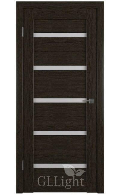 Двери Грин Лайн, модель GLLight 7 (дуб шоколад, белый сатинат) в Симферополе