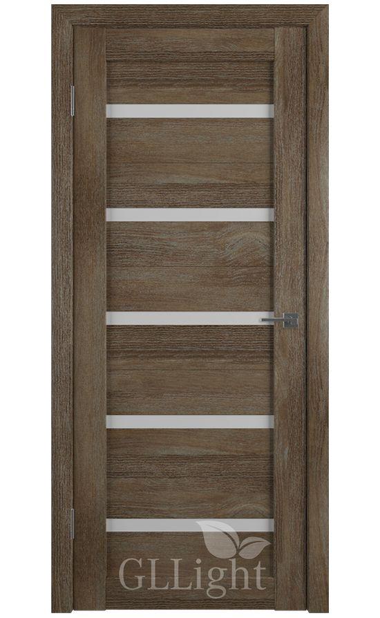 Двери Грин Лайн, модель GLLight 7 (дуб трюфель, белый сатинат) в Симферополе
