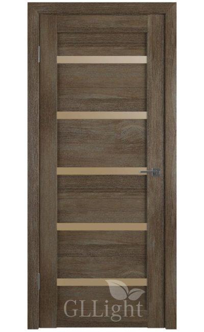 Двери Грин Лайн, модель GLLight 7 (дуб трюфель, бронзовый сатинат) в Симферополе