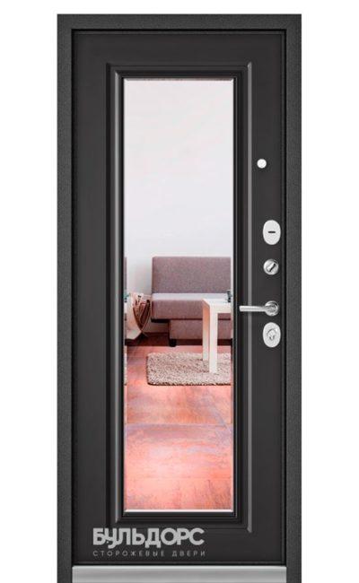 Входная дверь Бульдорс Standart 90 Шелк/Графит Софт 9S-140 Зеркало
