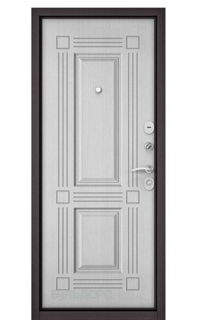 Входная дверь Бульдорс Mass 90 (Металл/МДФ). Ларче Белый 9S-104