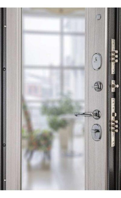 Входные двери в Симферополе - Porta S 104.П61 Антик Серебро Bianco Veralinga (Зеркало).