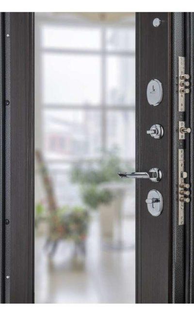 Входные двери в Симферополе - Porta S 104.П61 Антик Серебро Wenge Veralinga (Зеркало).