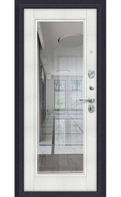 Входные двери в Симферополе - Porta S 51.П61 Almon 28 Bianco Veralinga (Зеркало).