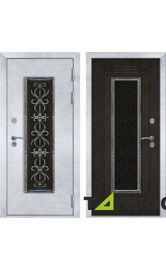 Двери Венеция 3 Антик белое серебро Венге в Симферополе