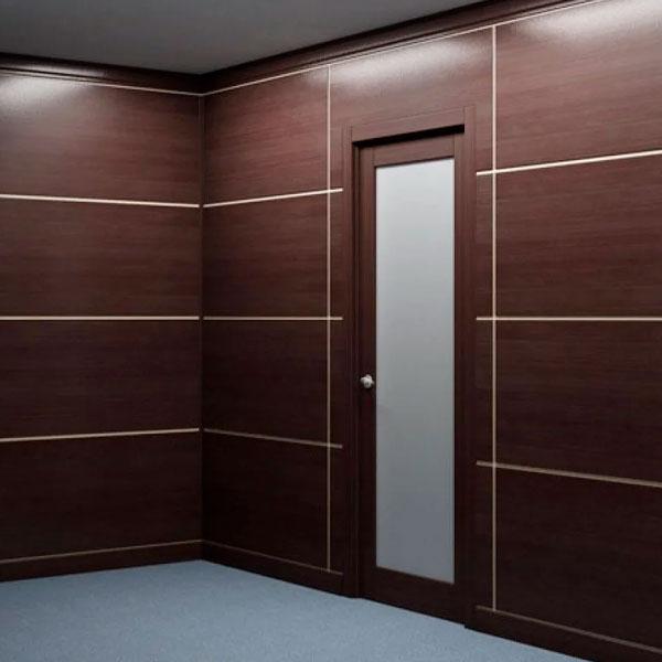 Двери в интерьере шпон файн-лайн